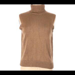 Lauren RL M Silk Turtleneck Sleeveless Sweater